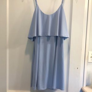 Express Baby Blue Party Dress